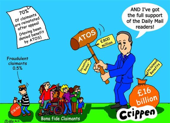 Cameron wielding the ATOS hammer at claimants