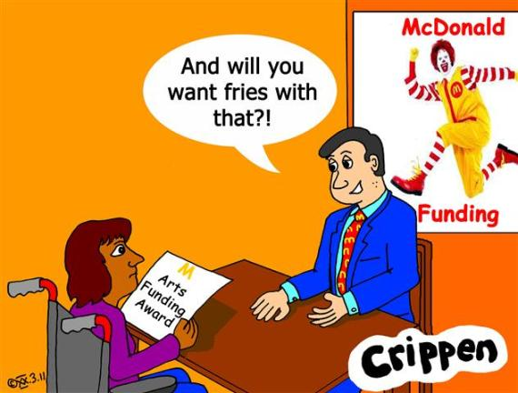 Crippen's corporate funding cartoon