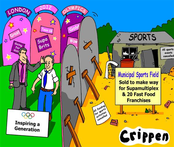 Crippen's cartoon about the Olympics inspiring a generation